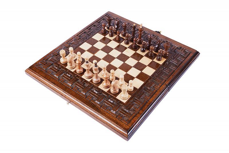 Шахматы и нарды резные Haleyan Армянский Орнамент 30  - купить со скидкой