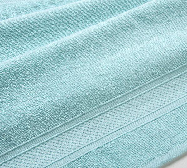 Полотенце махровое с бордюром (светло-голубое) 40х70