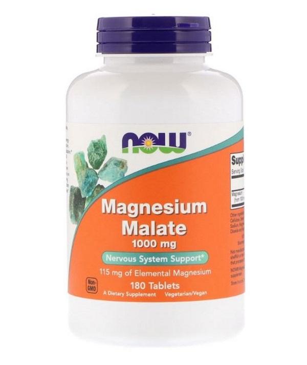 Купить Магния малат 1000 мг, 180 таблеток, NOW