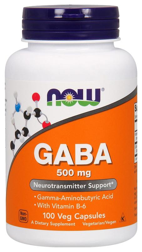 Купить Добавка для нервной системы, бустер тестостерона NOW Gaba 100 капс.