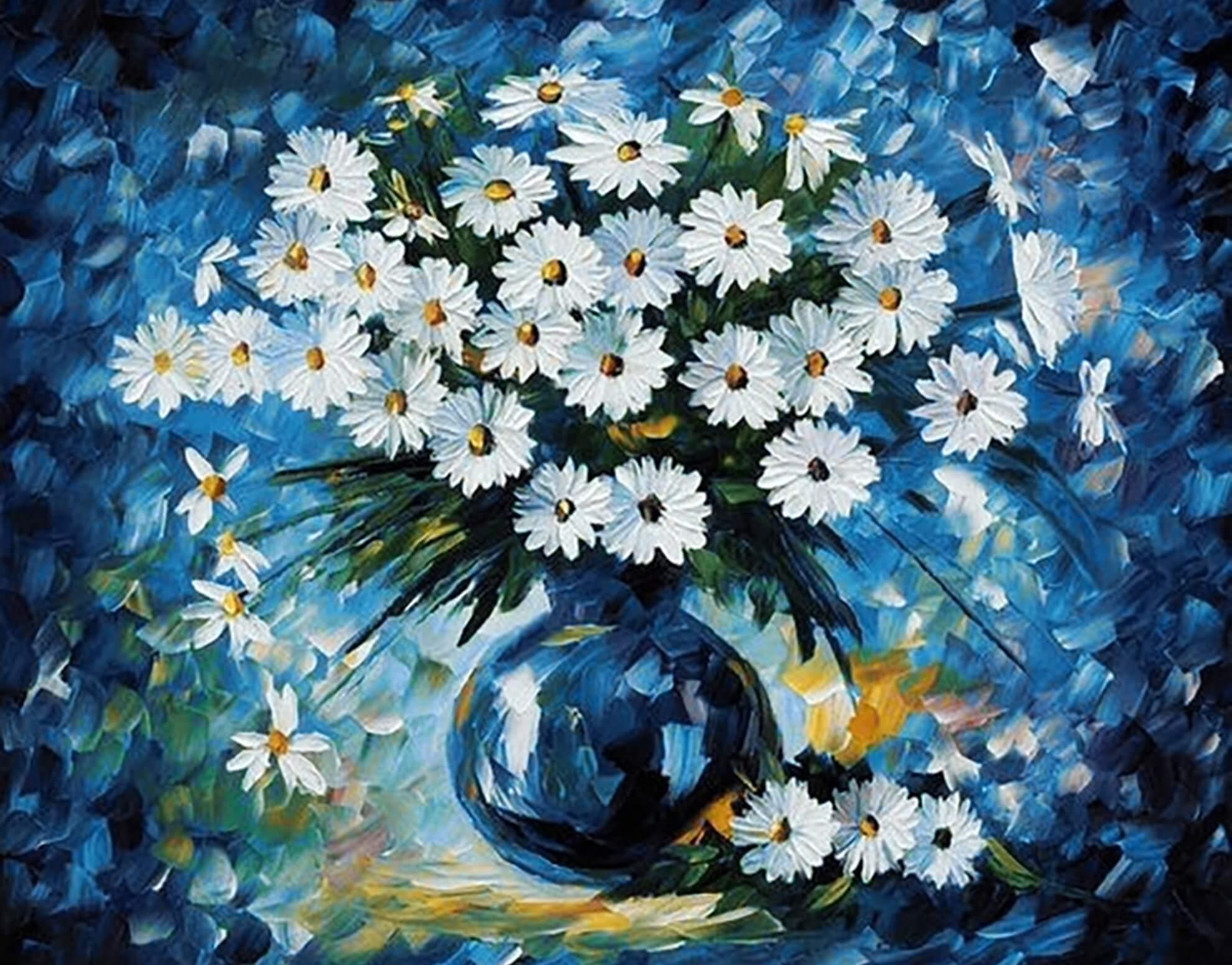 Цветов в картинках красками
