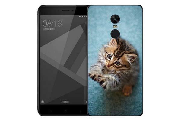 Чехол Gosso Cases для Xiaomi Redmi Note 4X «Котёнок на голубом»