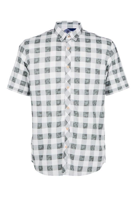 Рубашка Мужская TOM TAILOR зеленая 46