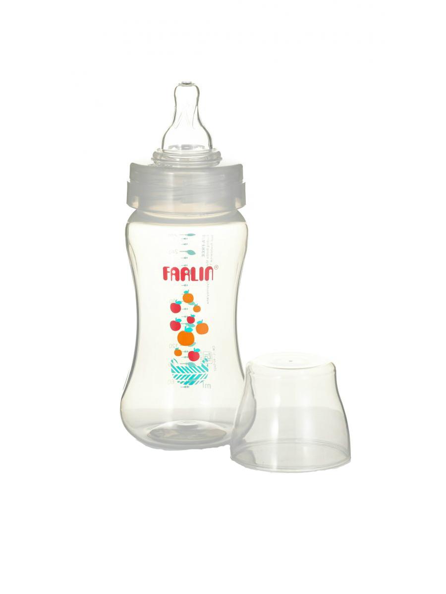 Бутылочка для кормления FARLIN из полипропилена с широким горлышком, 270 мл
