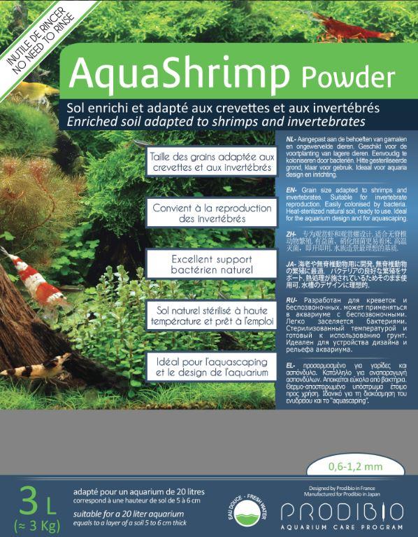 Питательный грунт Prodibio AquaShrimp Powder 0,6 1,2мм