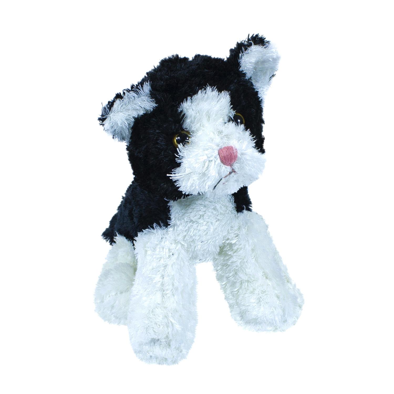 Купить Мягкая игрушка Teddykompaniet котенок, черно-белый, 23 см, 1778, Мягкие игрушки животные