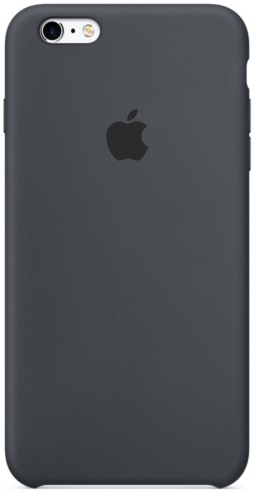 APPLE SILICONE CASE CHARCOAL GRAY
