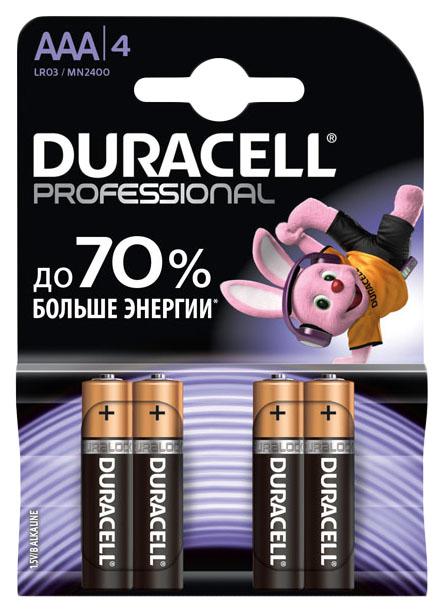 Батарейка Duracell Professional LR03/MN2400 4 шт фото