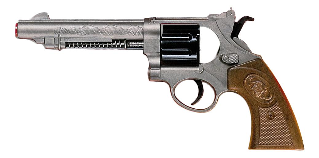 Купить Пистолет игрушечный Western-Line West Colt 28 см, блистер, Edison Giocattoli, Игрушечные пистолеты