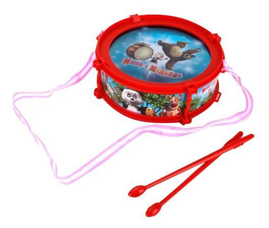 Маша и Медведь, Барабан играем вместе b672011-r2, Играем Вместе, Детские музыкальные инструменты  - купить со скидкой