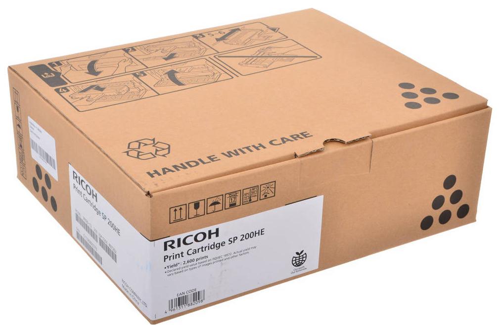 Картридж для лазерного принтера Ricoh SP 200HS/HE, черный, оригинал фото