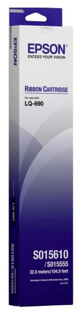 Картридж для матричного принтера Epson C13S015610BA, черный,