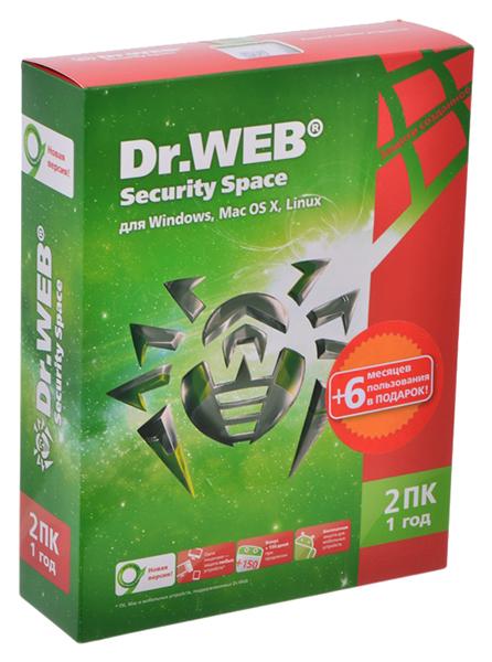 Антивирус Dr.Web Security Space BHW-B-12M-2-A3 на 2 устройства 12 мес. фото