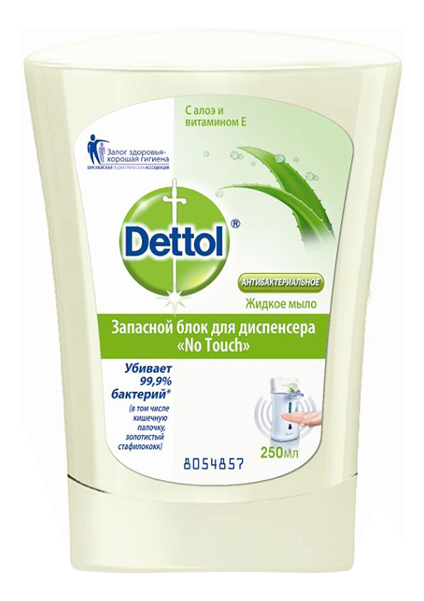 Жидкое мыло Dettol с алоэ и витамином Е (запасной блок) 250 мл