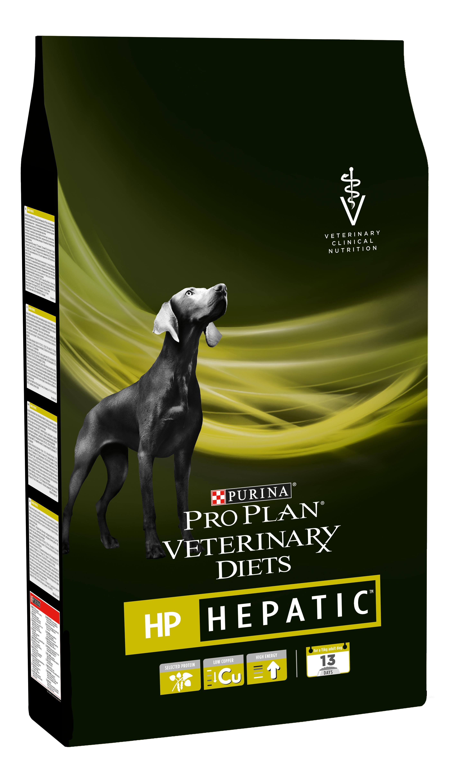Сухой корм для собак Pro Plan Veterinary Diets HP Hepatic, при заболевании печени, 3кг фото