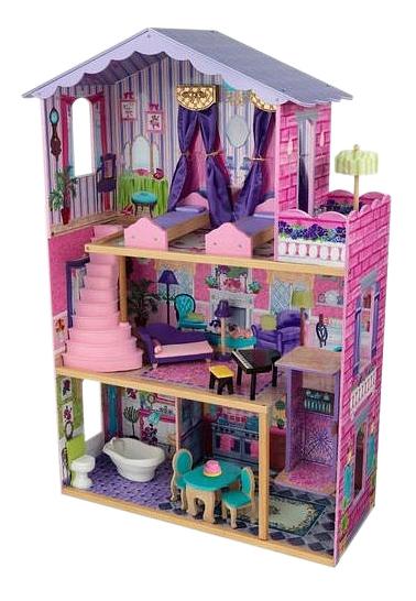 Купить Домик KidKraft для Barbie Особняк мечты с мебелью, Кукольные домики