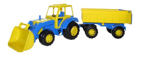 Трактор-мастер с прицепом и ковшом №1 Полесье фото