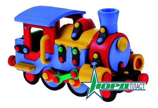 Конструктор пластиковый Детский Конструктор Mic O Mic Паравозик 485027
