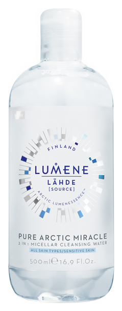 Мицеллярная вода Lumene Lahde Pure Arctic Miracle 3 in 1 Micellar Water 500 мл