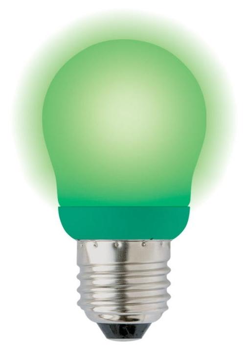 Лампа энергосберегающая (03039) E27 9W Green