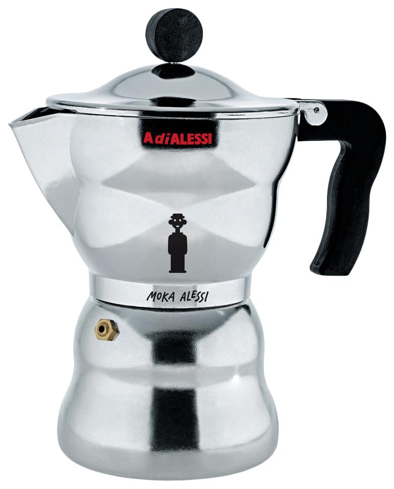 Гейзерная кофеварка Alessi Moka AAM33/1 Silver