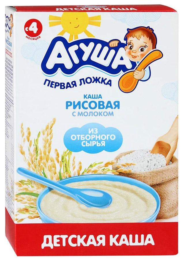 Купить Рисовая 200 г, Молочная каша Агуша Рисовая с 4 мес 200 г, Детские каши