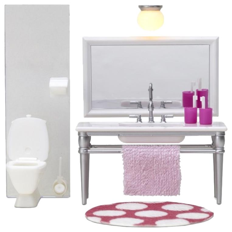 Купить Набор кукольной мебели Lundby Смоланд Ванная с 1 раковиной LB_60208700, Аксессуары для кукол