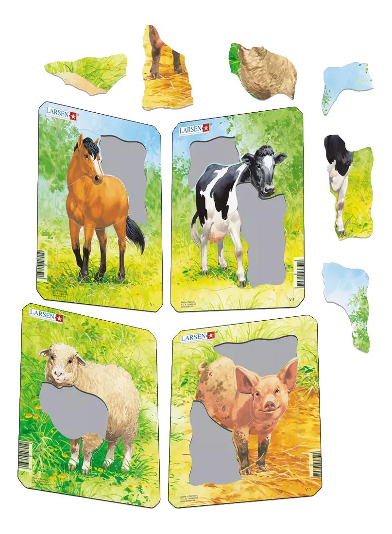 Купить Пазл Larsen Рисунки животных в ассортименте, Пазлы