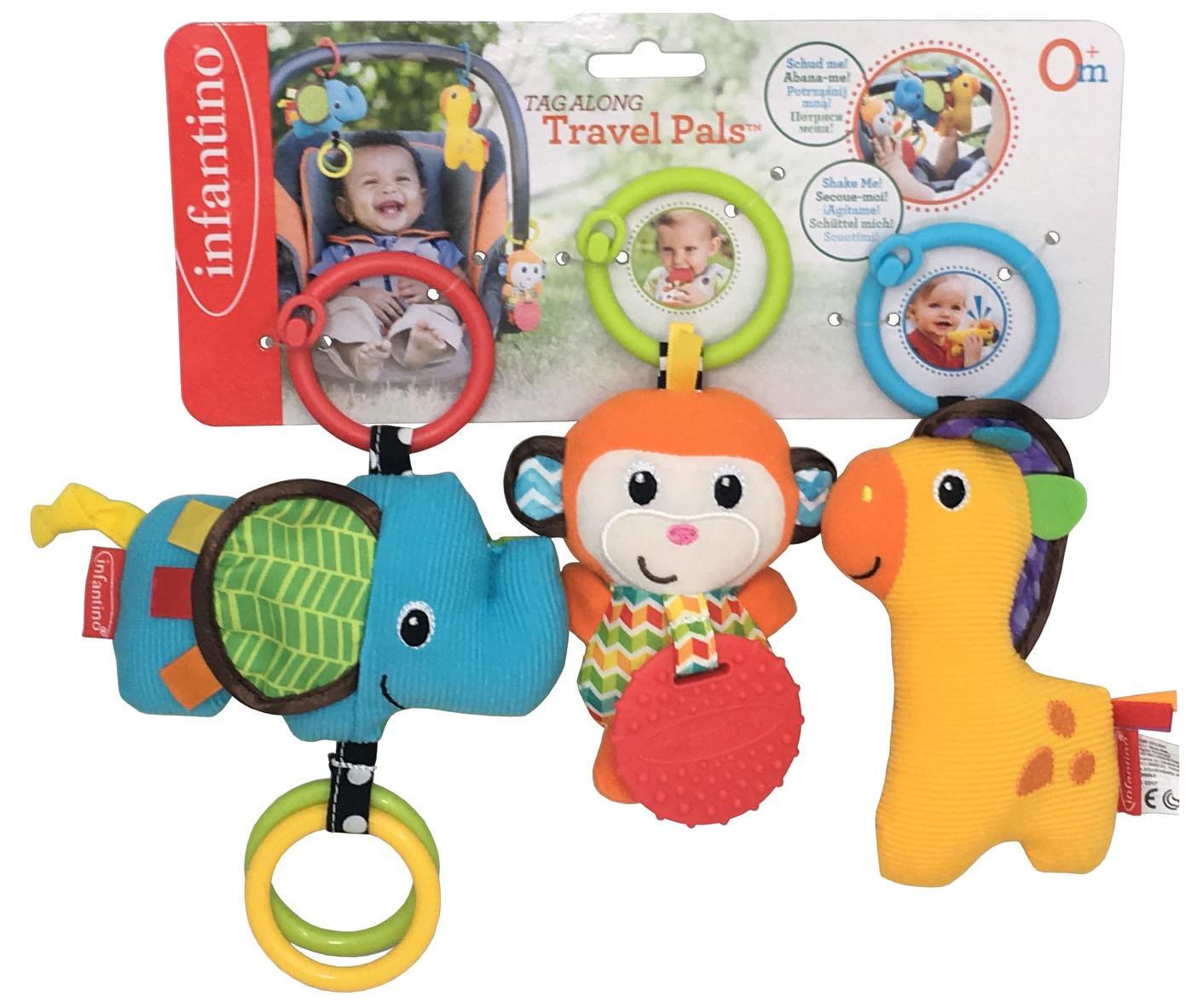 Купить Друзья, Развивающая игрушка Infantino Набор игрушек для малышей друзья,