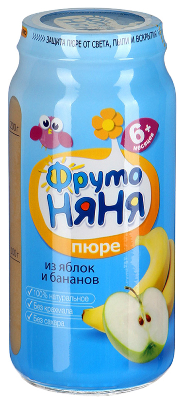Пюре фруктовое ФрутоНяня Из яблок и бананов 250 г