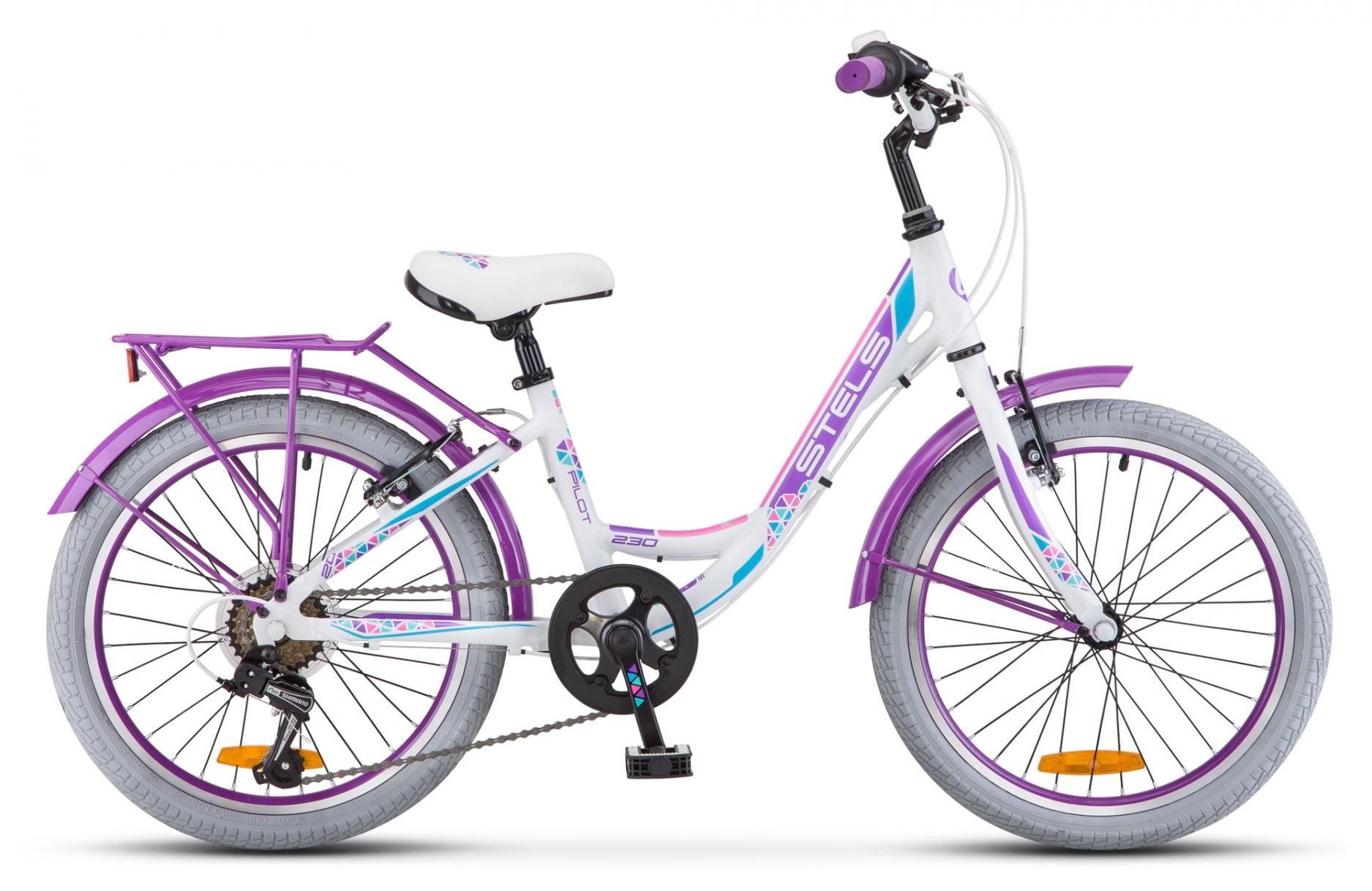 "Велосипед Stels Pilot 230 Lady 20 V010 2018 12"" белый"