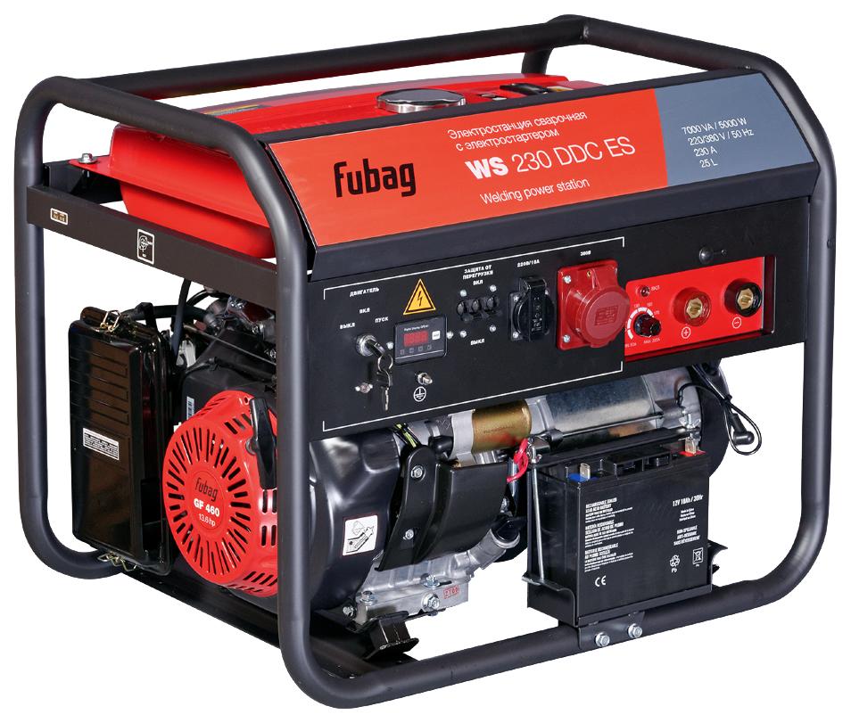 Бензиновый генератор WS 230 DDC ES 380 220В