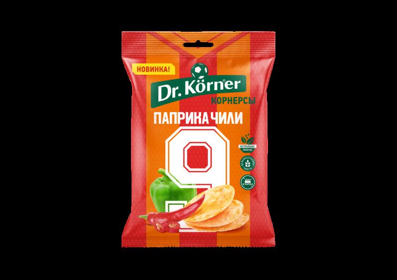 Чипсы Dr.Korner цельнозерновые кукурузно-рисовые с паприкой и чили 50 г