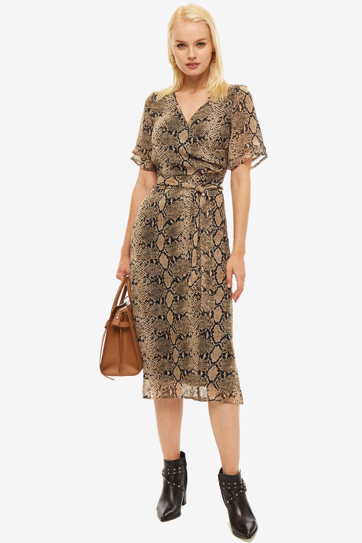 Платье женское MORE & MORE бежевое фото