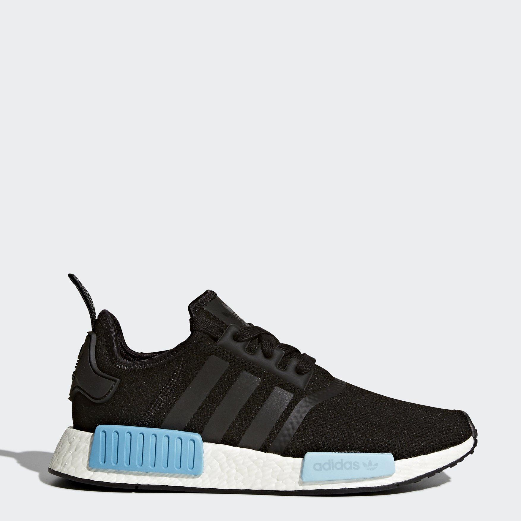 Кроссовки Adidas Og Nmd R1, core black/core black/icey blue, 37.5 RU фото