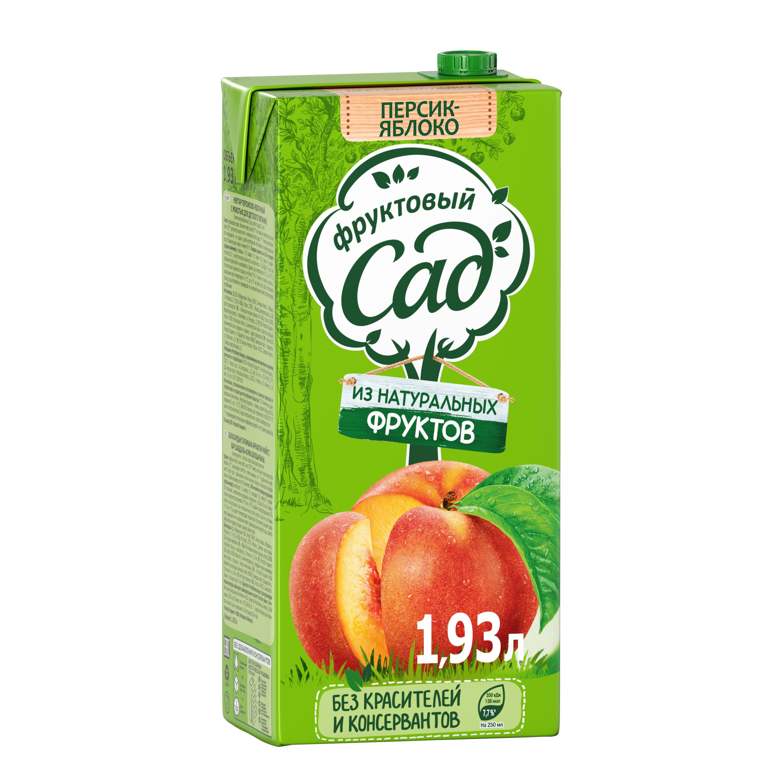 Нектар Фруктовый Сад яблоко-персик 1.93 л фото