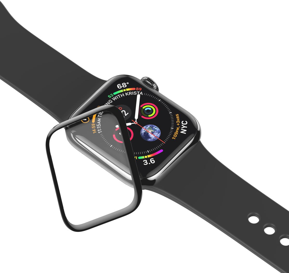 Защитное стекло uBear для Apple Watch Series
