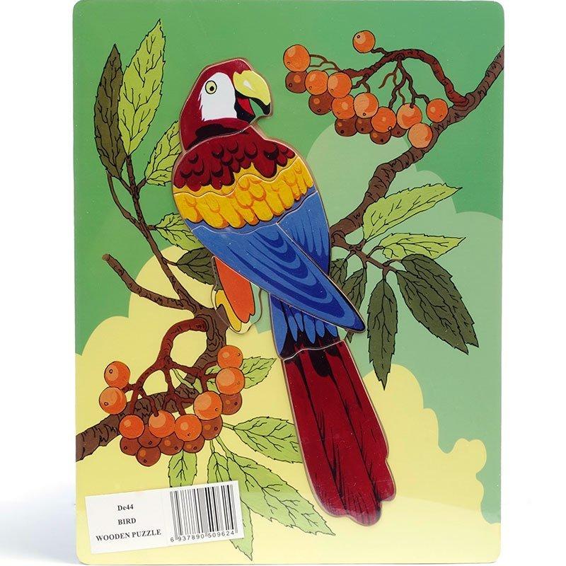 Деревянный пазл Чудо-дерево Попугай DE44