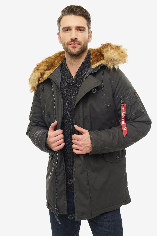 Куртка мужская Alpha Industries 193128 серая XL