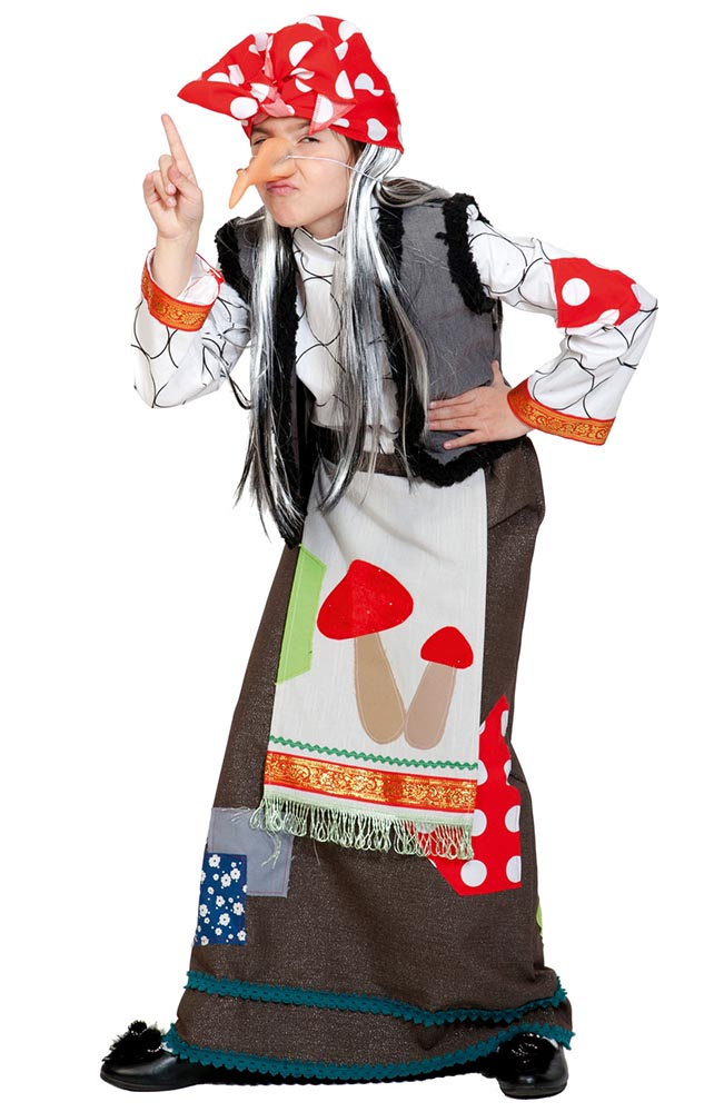 Карнавальный костюм Карнавалофф Баба яга, цв. разноцветный