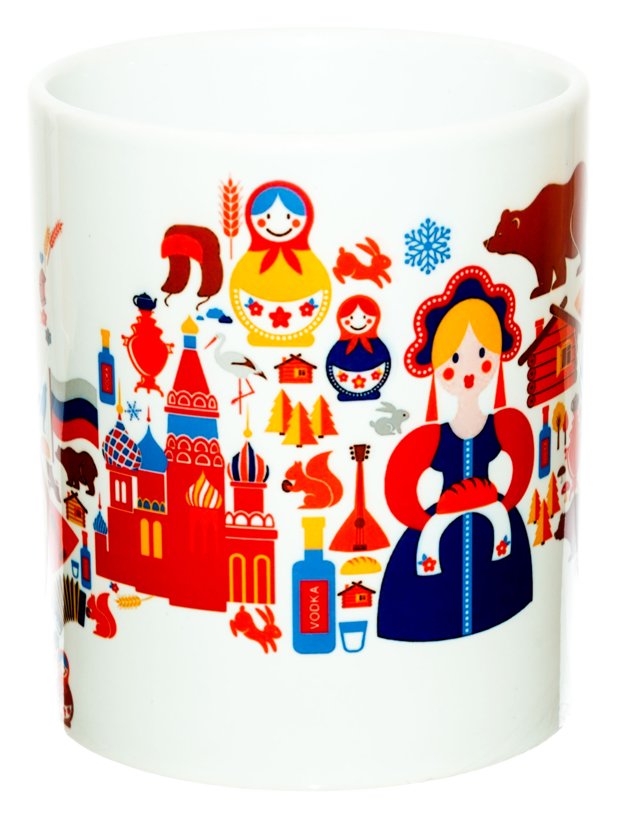 Керамическая кружка 3Dollara Символы России по мнению иностранцев. MUG0296 фото