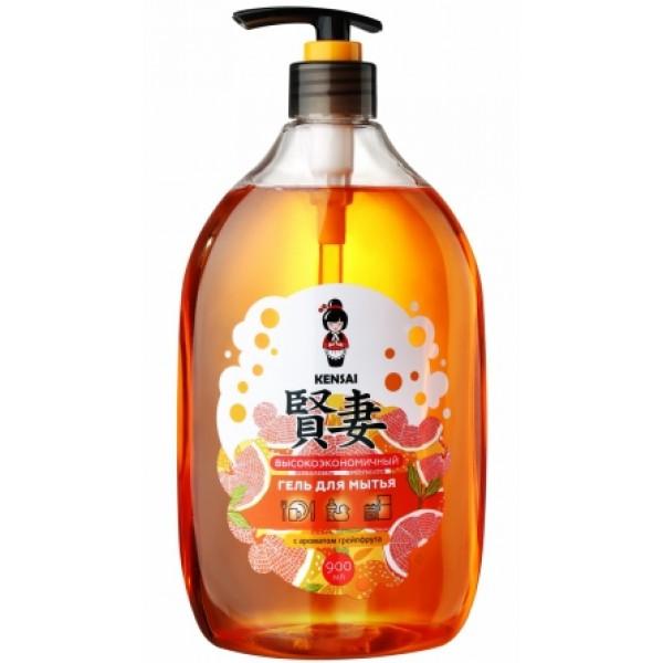 Гель для мытья посуды и детских принадлежностей Kensai с ароматом грейпфрута 900 мл