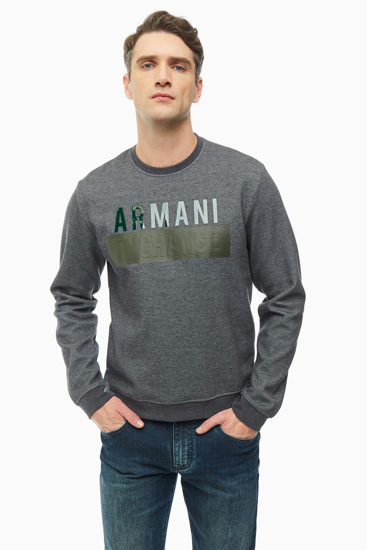 Свитшот мужской Armani Exchange 6GZM93 ZJ1KZ 3938 серый XXL фото