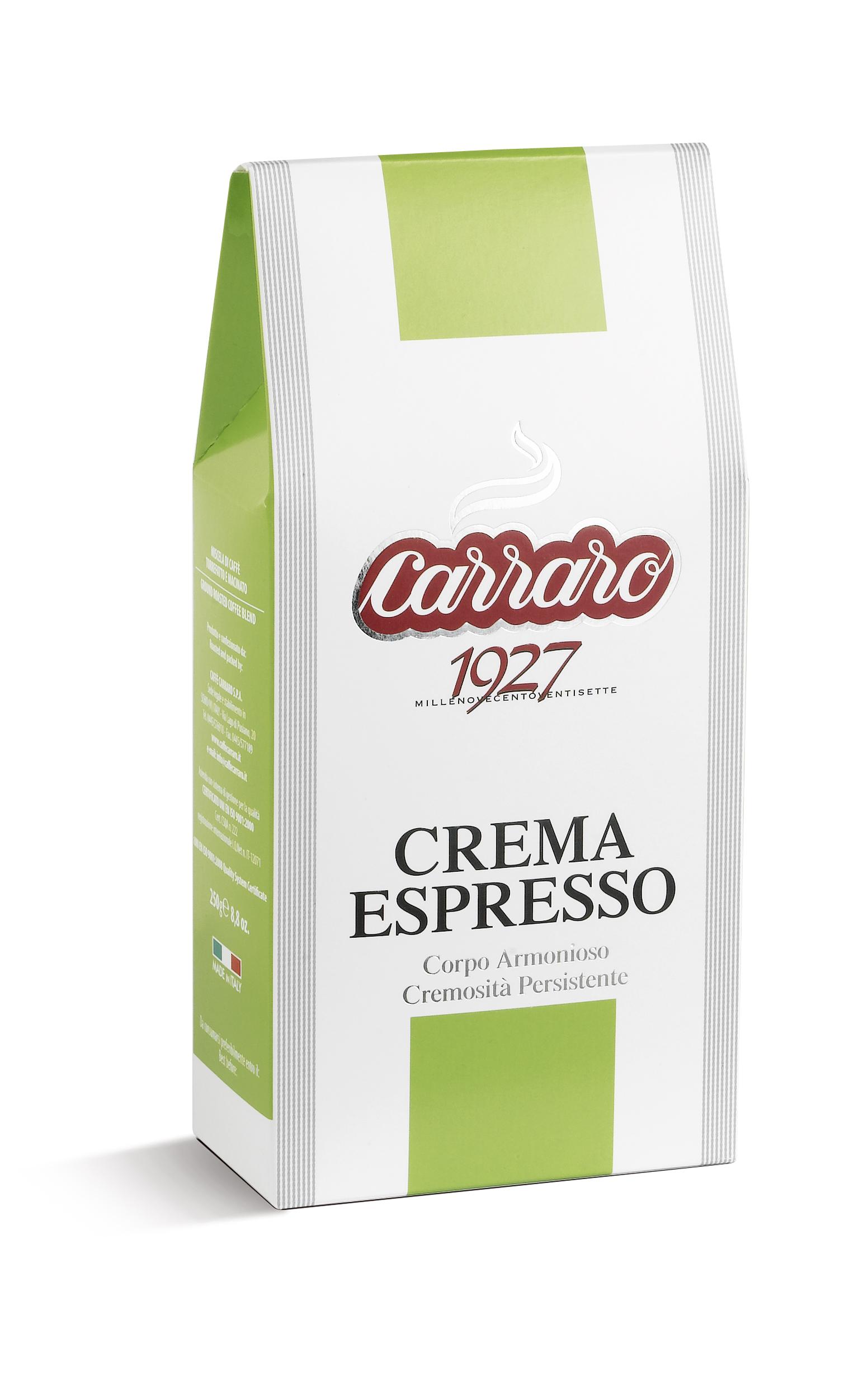 Кофе молотый  Carraro Crema Espresso 250 г