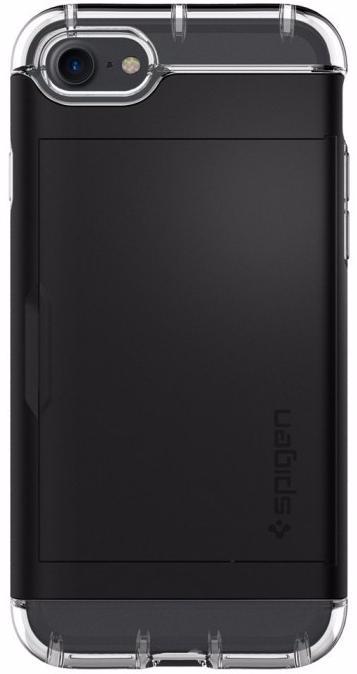 Чехол-визитница Spigen Crystal Wallet для Apple iPhone 7/8 Black (042CS20981)