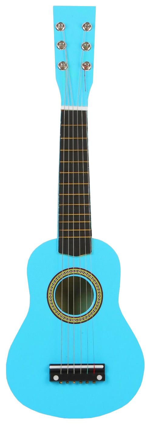 Игрушка музыкальная sima-land гитара цвет голубой