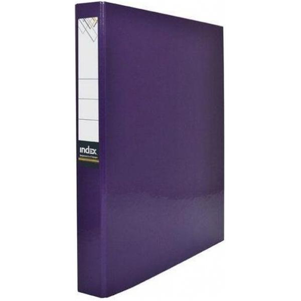 Папка-файл Index на 2 кольцах, лам., Фиолетовая, диаметр 30мм