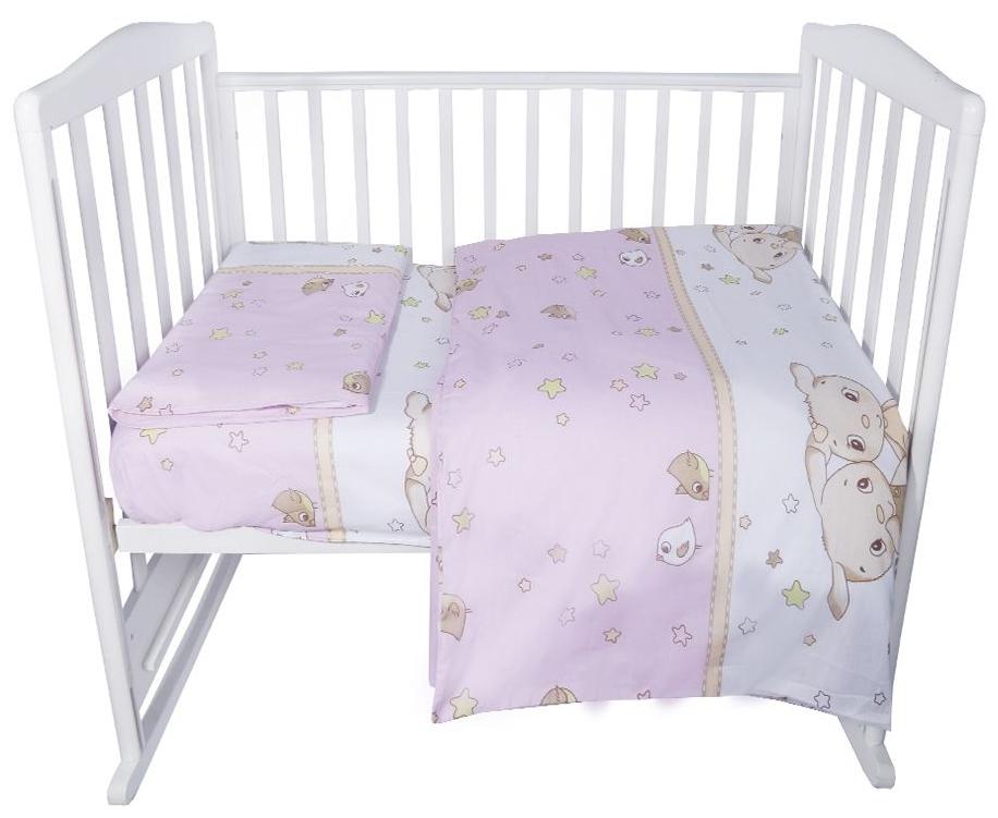 Комплект в кроватку Эдельвейс Друзья розовый, 3 предмета фото