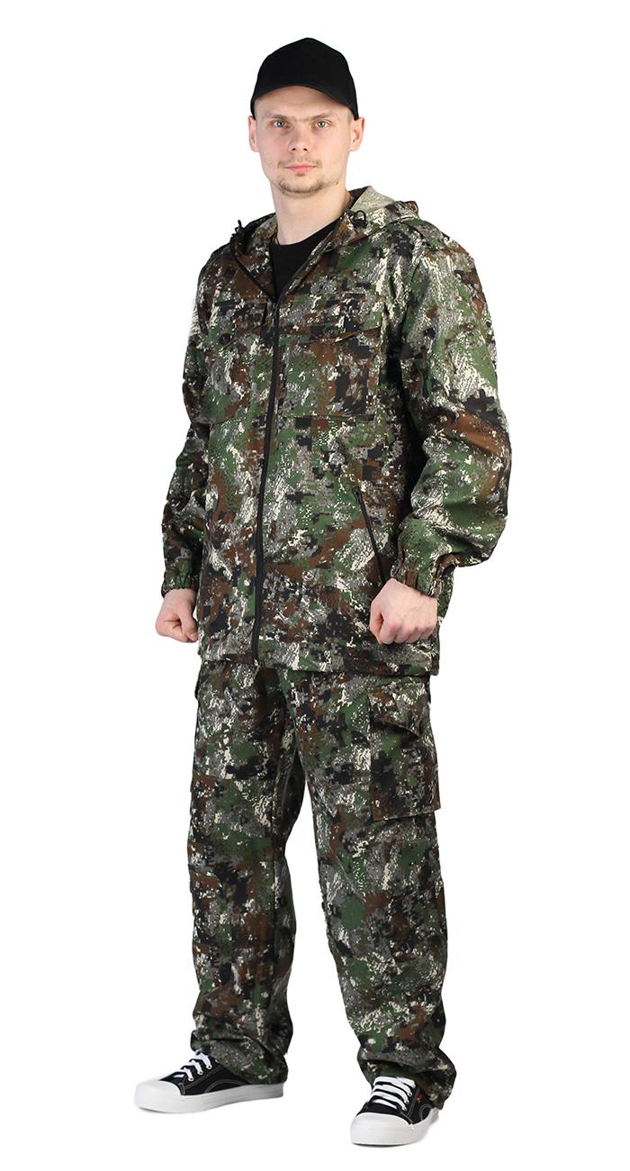 Брюки Ursus Турист 2, кмф сетка зеленый, 60-62 RU, 182-188 см фото