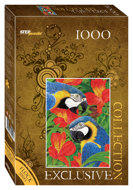 Пазл Step Puzzle Бархатная коллекция Попугаи 79520 1000 элементов